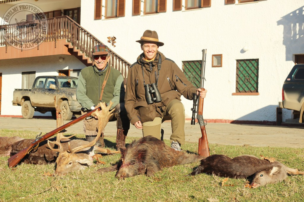 Pierangelo and Paolo with the results of 2 days blackpowder hunt